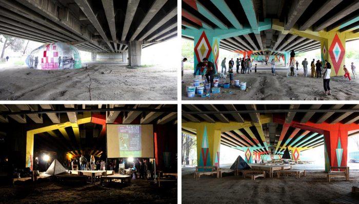 Le projet AutoBarrios, imaginé et mené depuis janvier 2012 par le collectif madrilèneBasurama dans le quartier de San Cristobal de Los Angeles.