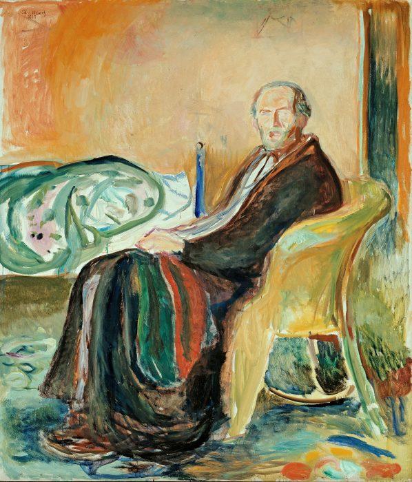 Edvard Munch, Autoportrait à la grippe espagnole, 1919, Oslo, Galerie nationale