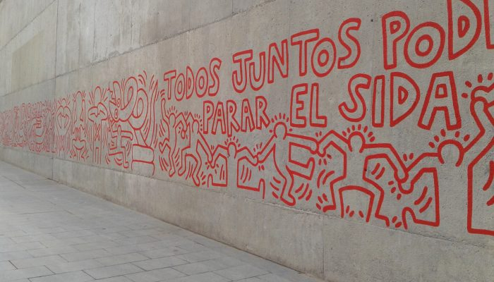 Fresque de Keith Haring, 1989, Barcelone