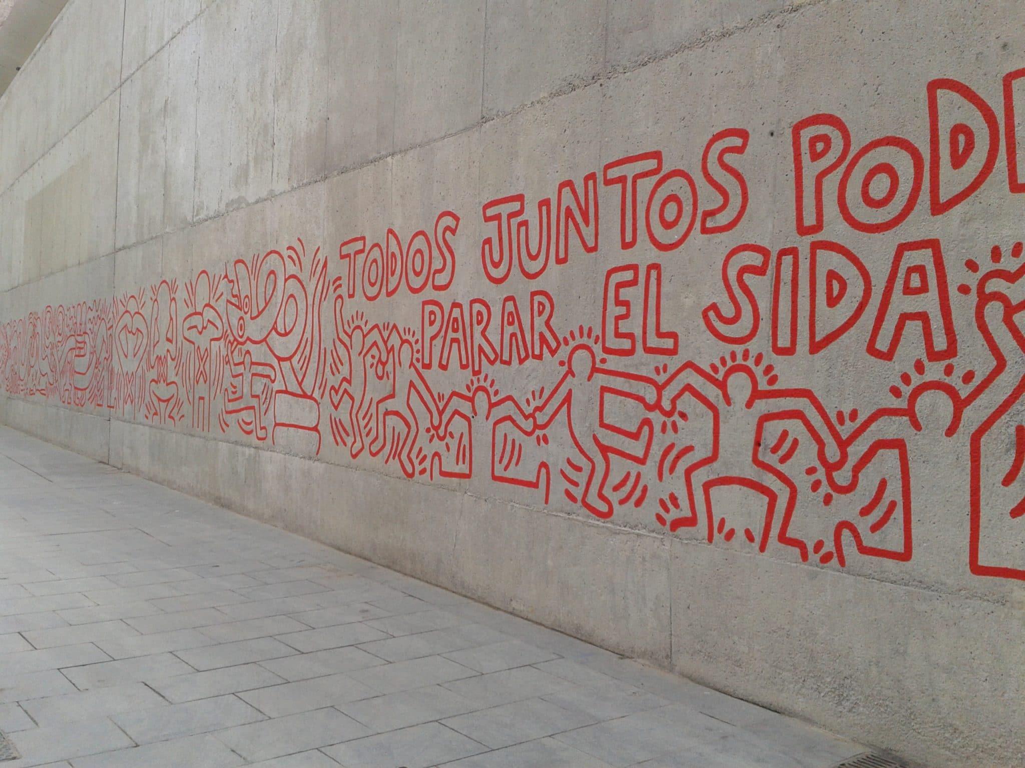 Fresque de Keith Haring, 1989, Barcelone