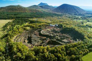 Photo du site du volcan de Leptegy